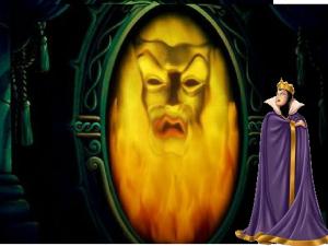 la reina y el espejo